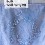 Blue batik wall hanging.
