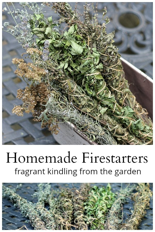 Homemade firestarters from the garden