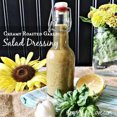 Roasted garlic salad dressing