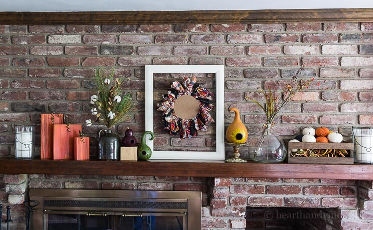 Fall Home Tour - Family room mantel