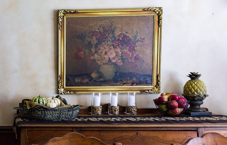 Fall Home Tour - Dining Hutch