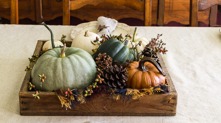 Fall Home Tour -Dining Room Centerpiece
