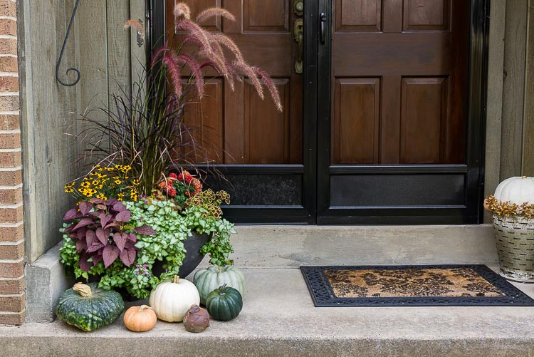 Fall home tour - front porch