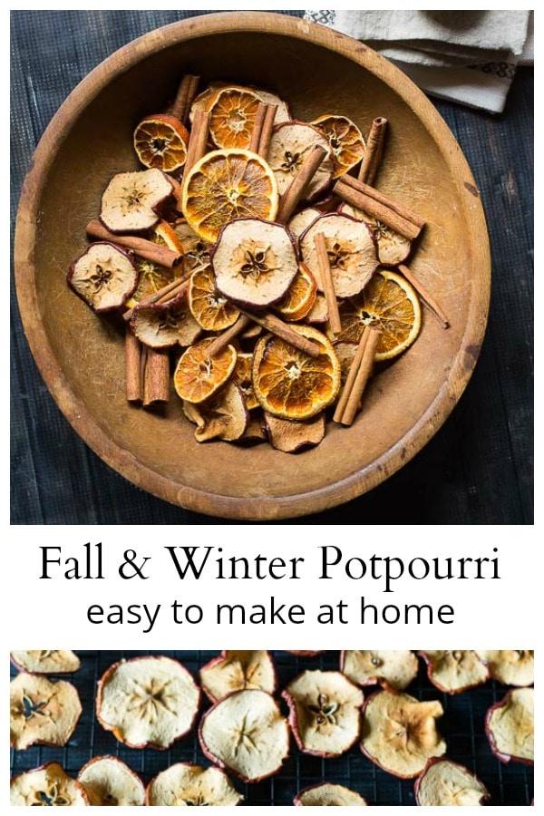 Homemade apple and orange potpourri