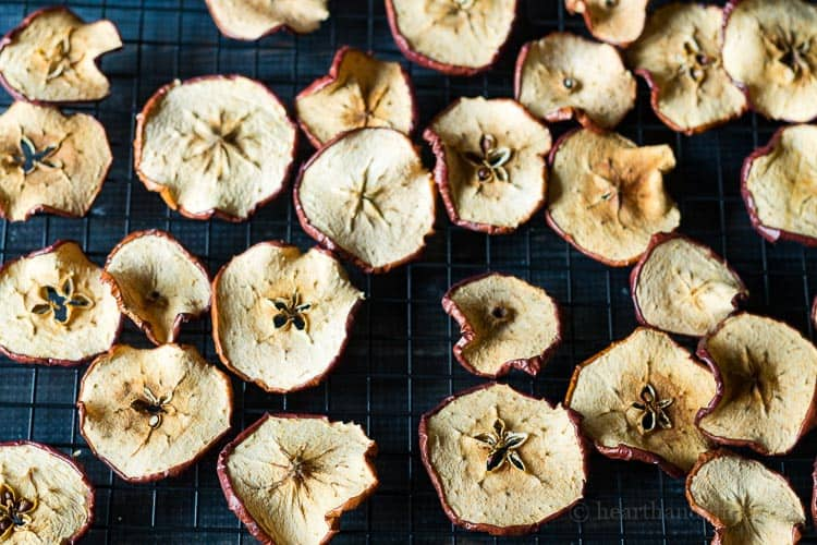 Homemade potpourri - dried apple slices