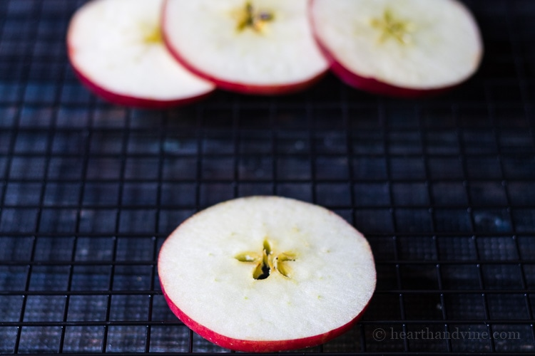 Homemade potpourri - Apple star slices