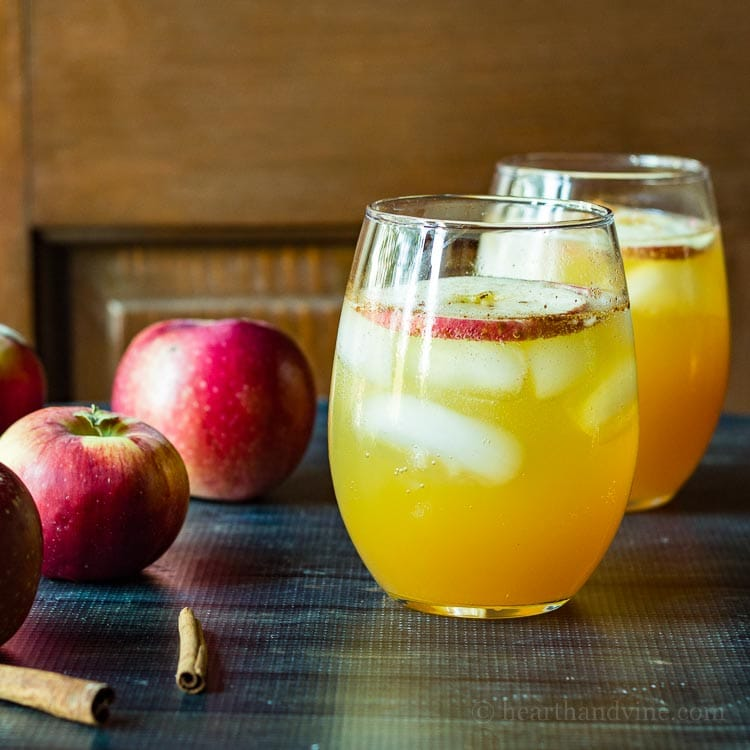 This apple cider cocktail is perfect for entertaining in the fall, with the fresh taste of apples and cinnamon, that will warm you down to your toes.