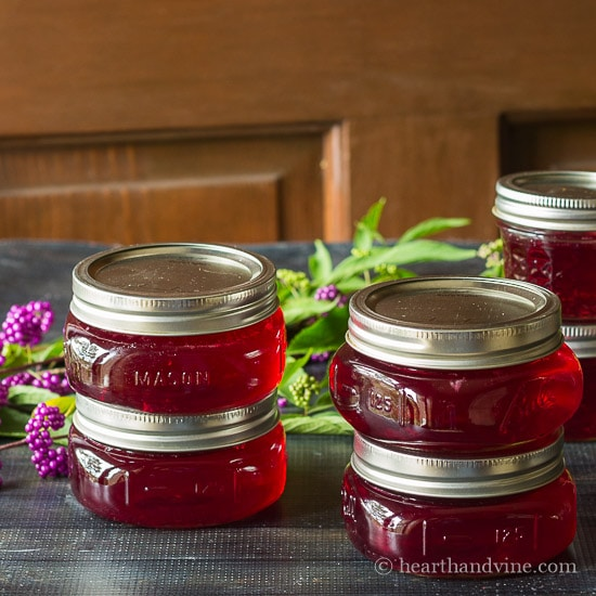 Beauty berry jelly homemade from the backyard.
