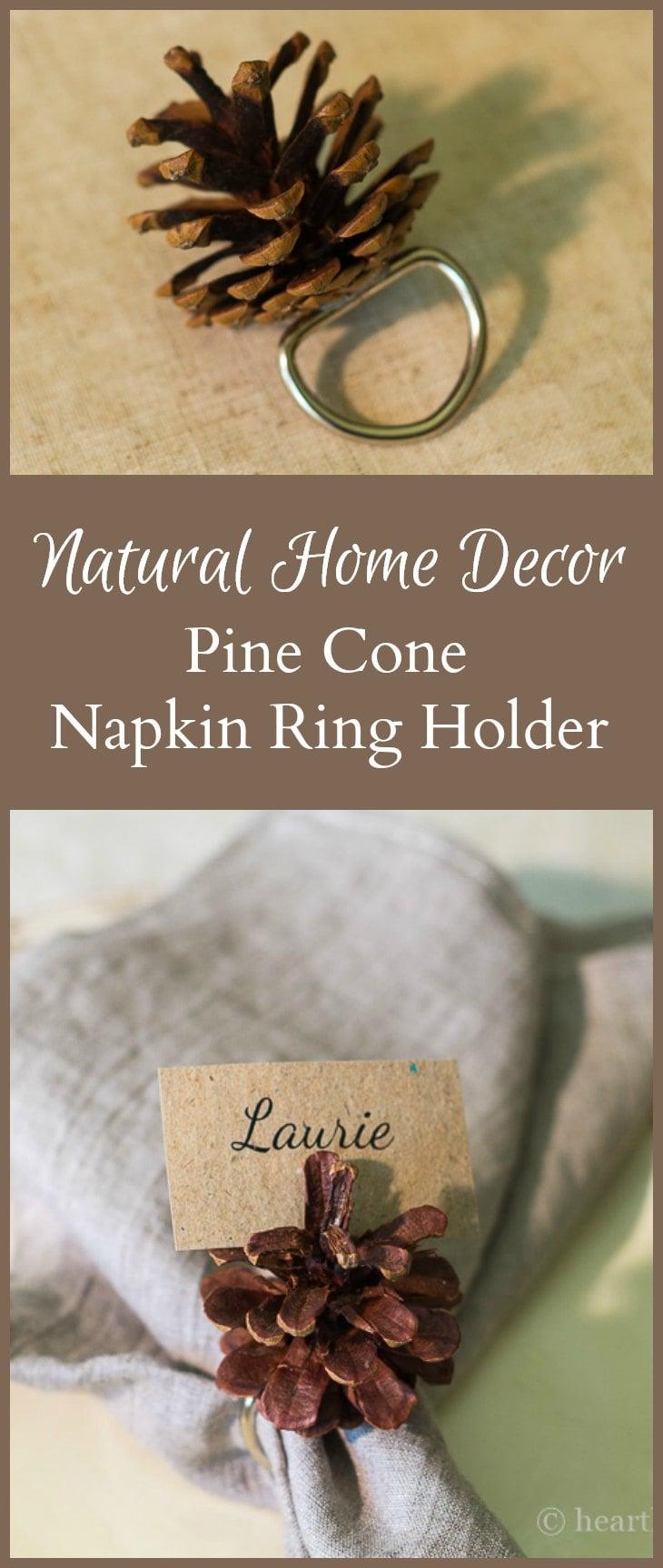 Pine cone napkin rings pics