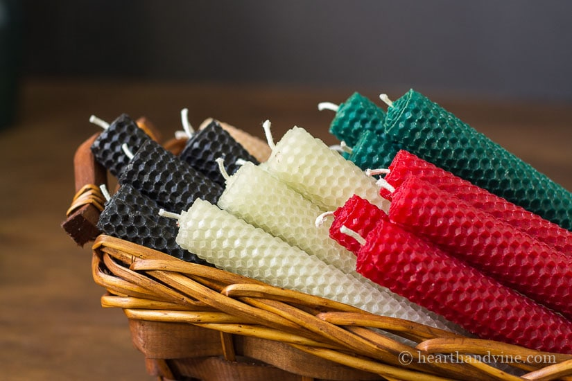 Rolled beeswax candles are wonderful handmade gifts.