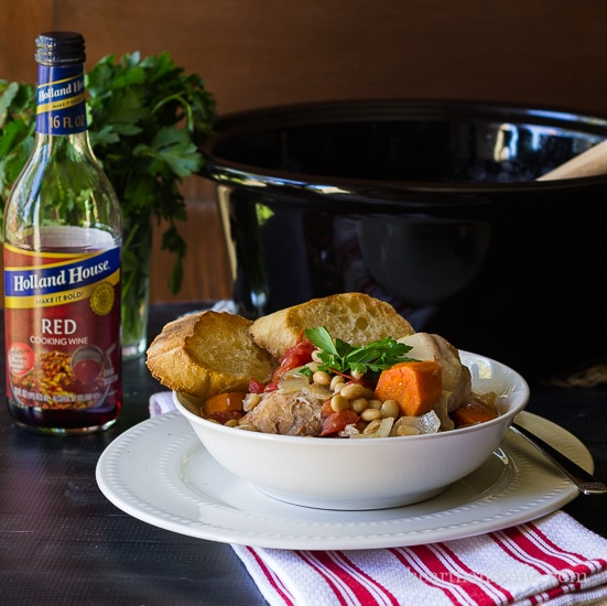 Slow cooker chicken cassoulet inspired by the south of France.
