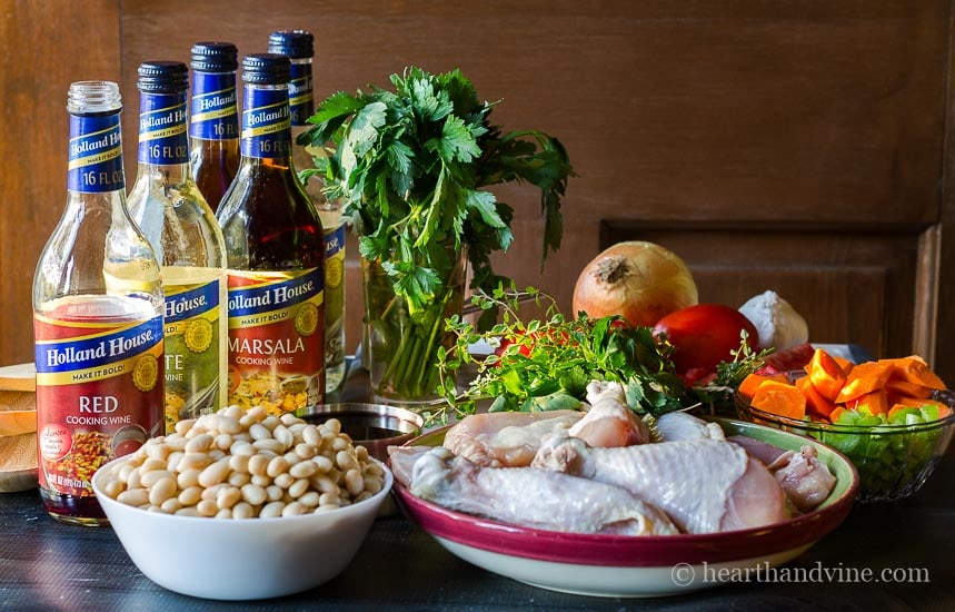 This slow cooker chicken cassoulet ingredients