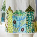 Tea Towel Apron Appliqued With Fun Whimsical Houses