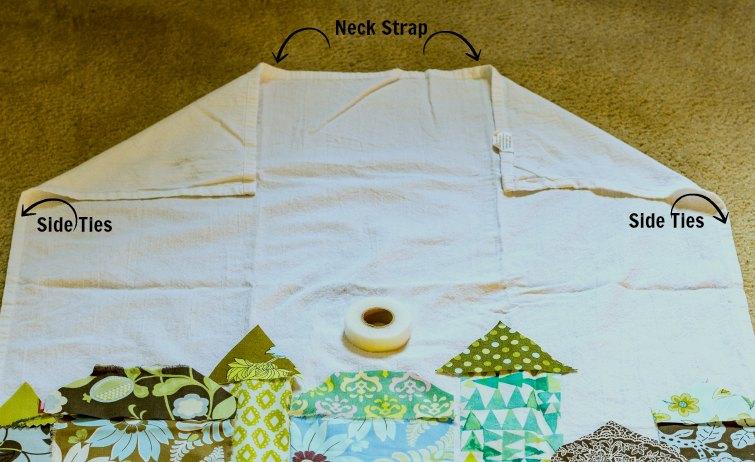 Tea towel apron tutorial