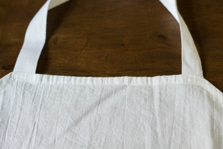 Tea towel aprons are super simple to make.