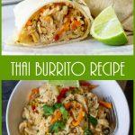 Thai burrito in a tortilla and bowl