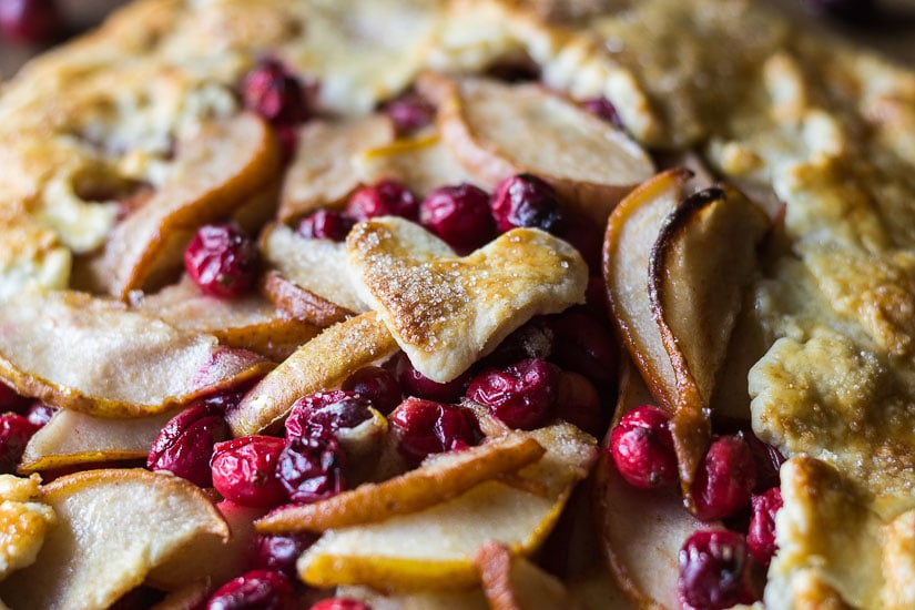 Top of cranberry pear galette.