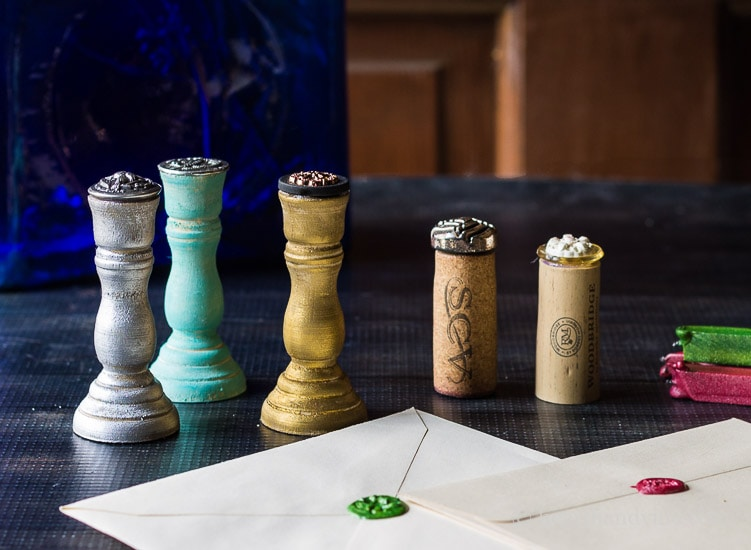 DIY Wax Seal Stamps Made with Heirloom Buttons