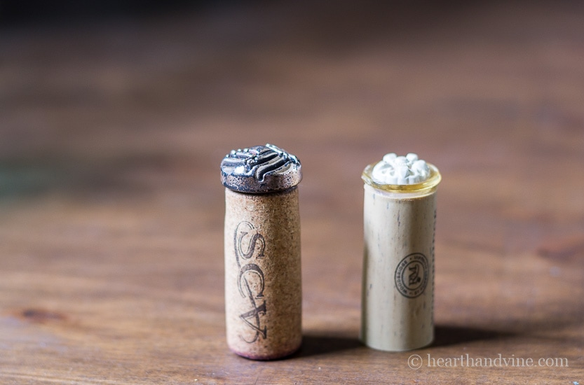DIY seal wax stamp wine corks