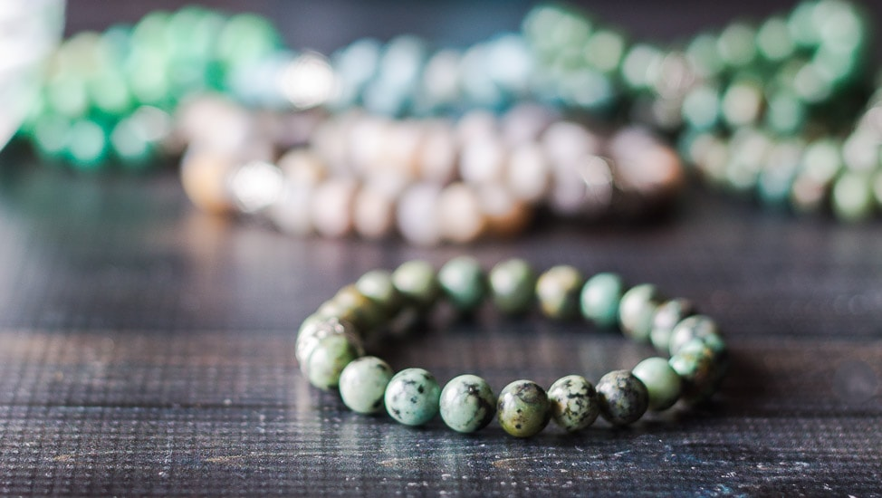 Healing stone bracelets African Turquoise.