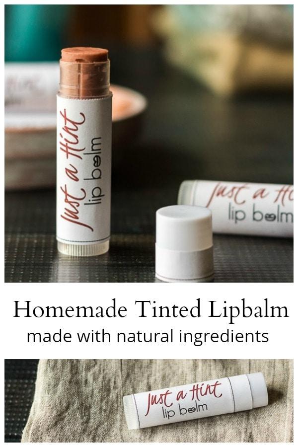 Natural tinted lipbalm
