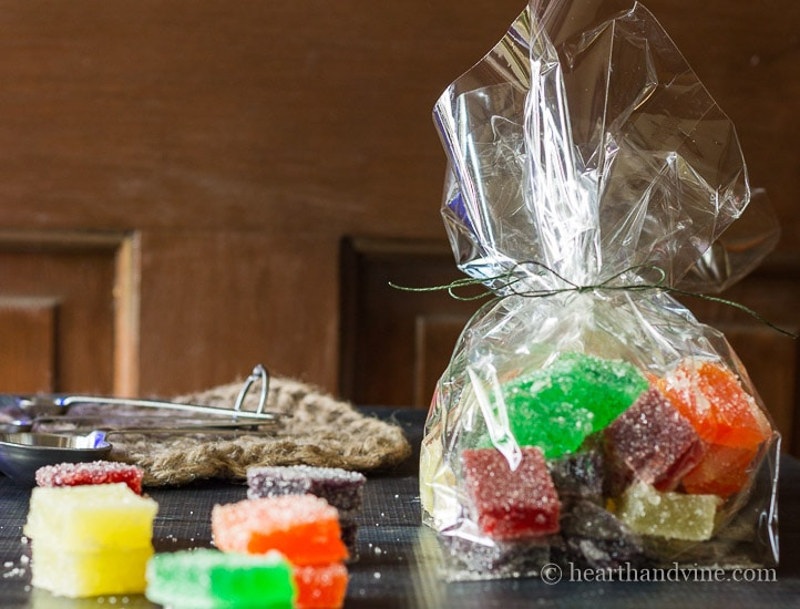 Jelly candy in assorted color and flavors.