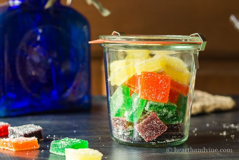 Jelly candy stored in Weck Jar.