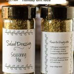 Front and back of homemade salad dressing mix