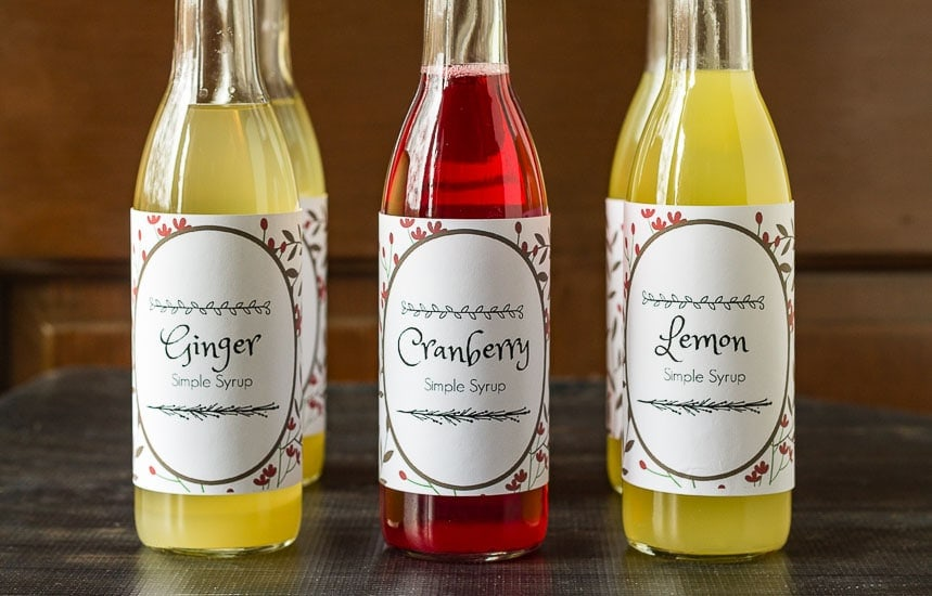 Simple syrup recipes are easy to create and make a wonderful gift for anytime of year. Perfect for cocktails or natural flavored sodas, toppings for dessert and more.
