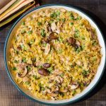 This leftover turkey casserole recipe is the perfect way to use up your holiday extras with a few fresh partners mixed in.
