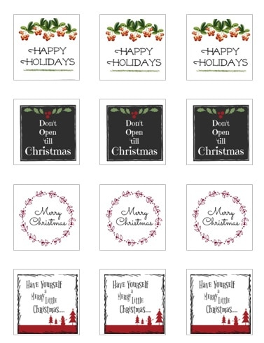 picture about Christmas Labels Printable called Printable Xmas Reward Tags: No cost Downloads Oneself Can Hire At present