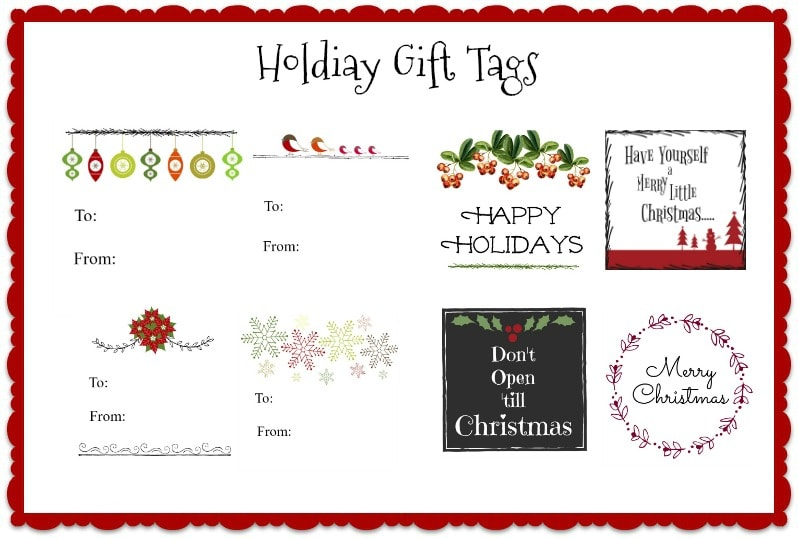 printable christmas gift tags - Printable Christmas Name Tags