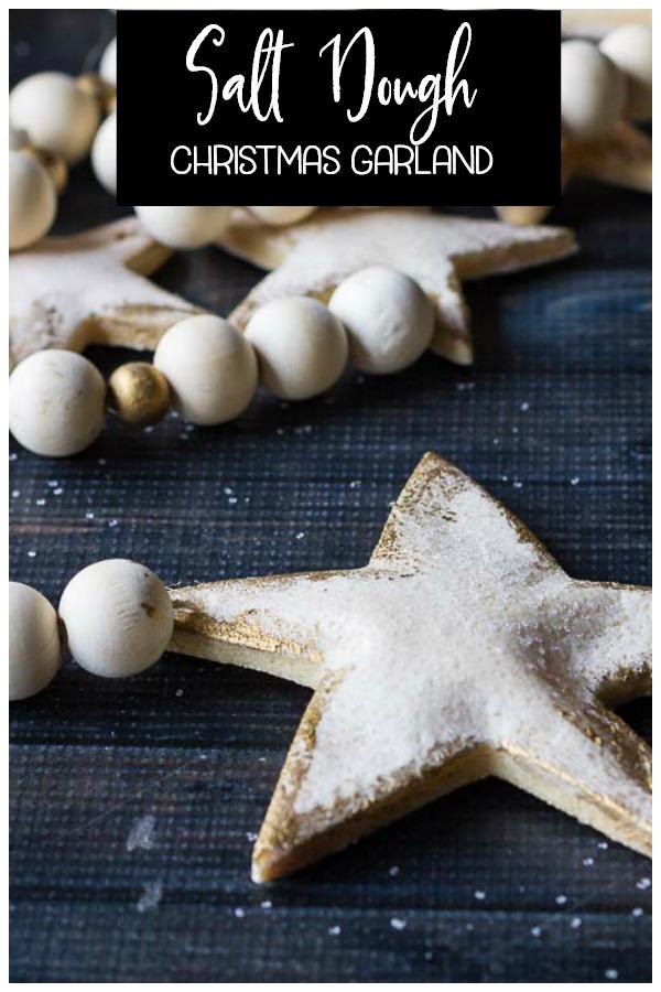salt dough star garland
