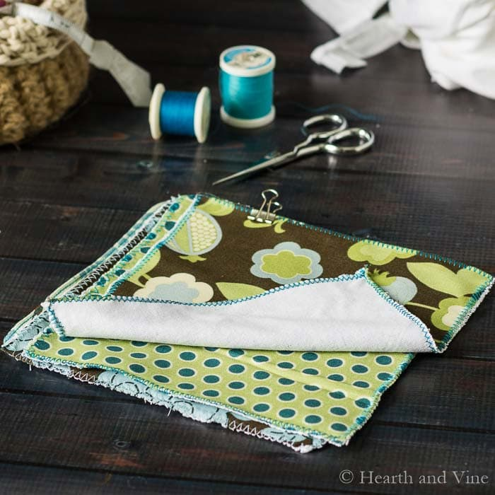 Homemade dust cloths set of four