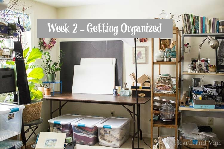 Organizing Ideas: Week 2 $100 Office Makeover Challenge