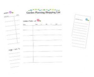 Garden shopping list