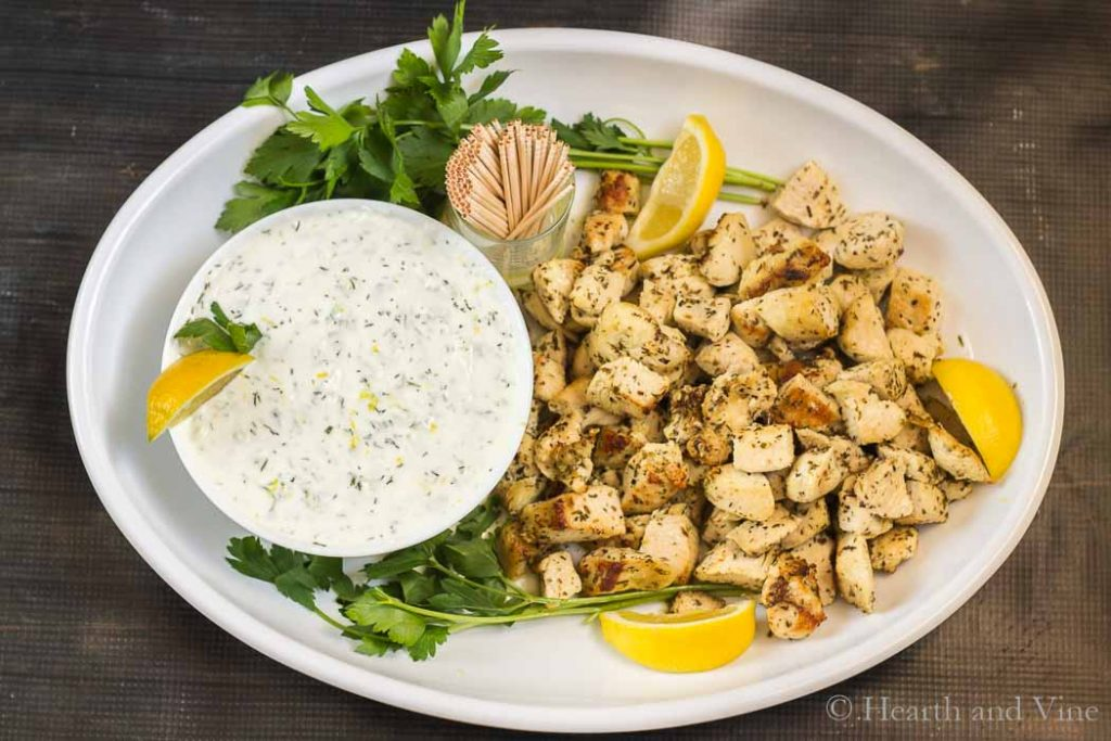 Greek Chicken Bites Guilt Free Low Carb Party Food