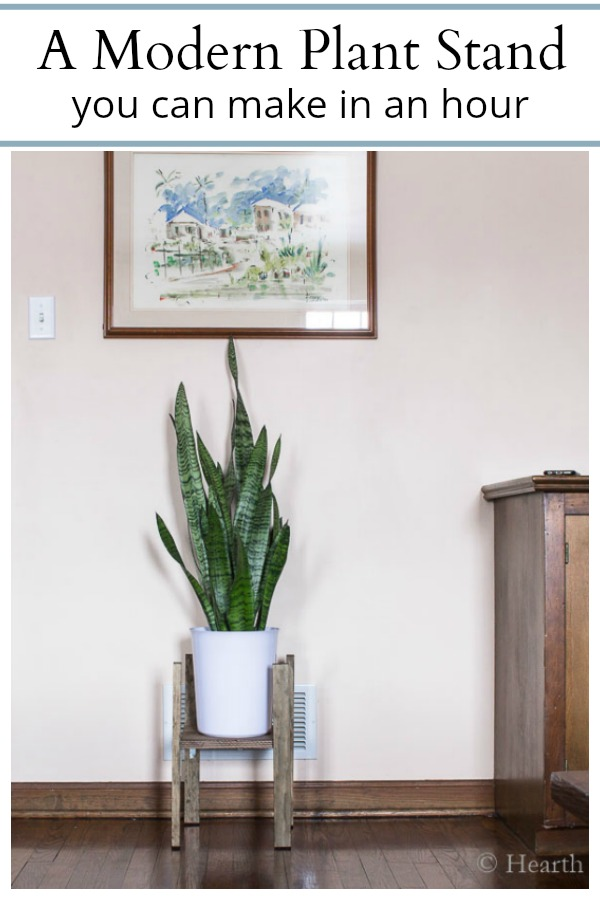 DIY easy modern plant stand tutorial