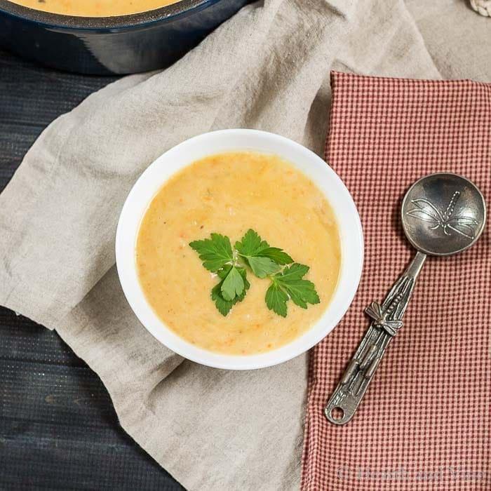 Bowl of easy potato soup