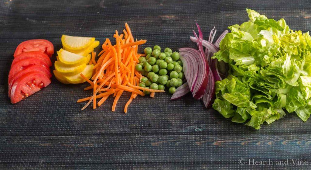 Various veggies for salad