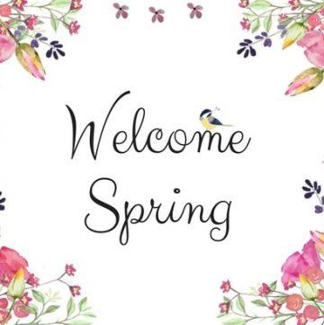 Welcome spring landscape