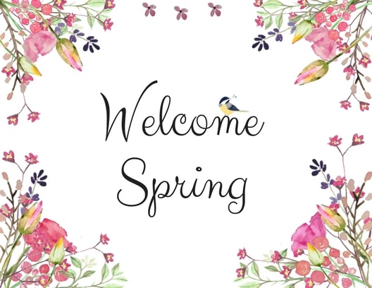 Welcome spring landscape