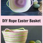 Rope coil pastel basket for Easter
