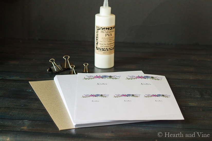 diy notepad supplies