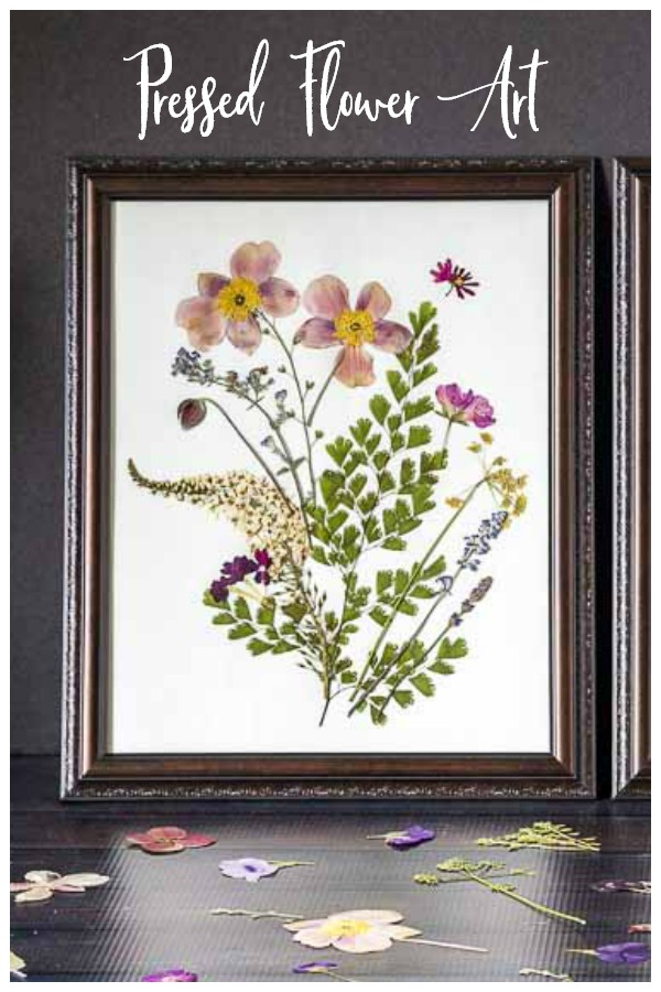 Pressed flower art framed