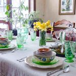 Spring tablescape for Easter