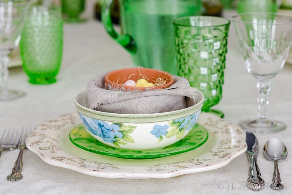 Spring tablescapes place setting