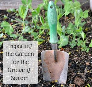 Preparing the garden - Frugal Family Home