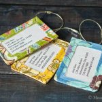 DIY Luggage Tags Made From Your Favorite Fabrics