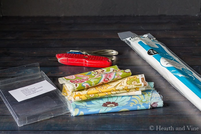 DIY luggage tags supplies